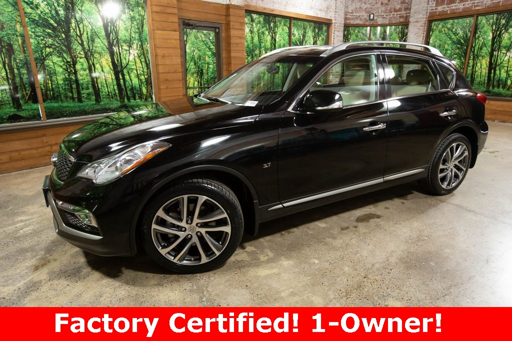Certified Pre-Owned 2017 INFINITI QX50 AWD, Touring Pkg, Navigation, Sunroof, CERTIFIED