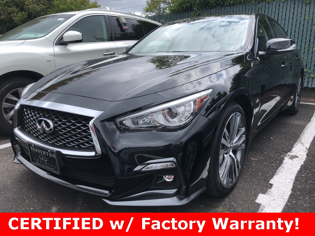 Certified Pre-Owned 2018 INFINITI Q50 Sport AWD, Essential Pkg, Performance Pkg, CERTIFIED