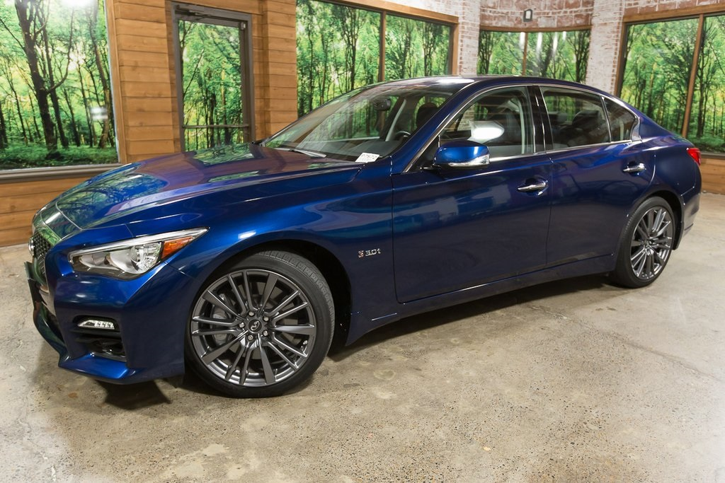Certified Pre-Owned 2016 INFINITI Q50 Red Sport 400 AWD, Premium Plus Pkg, Navigation, Sunroof