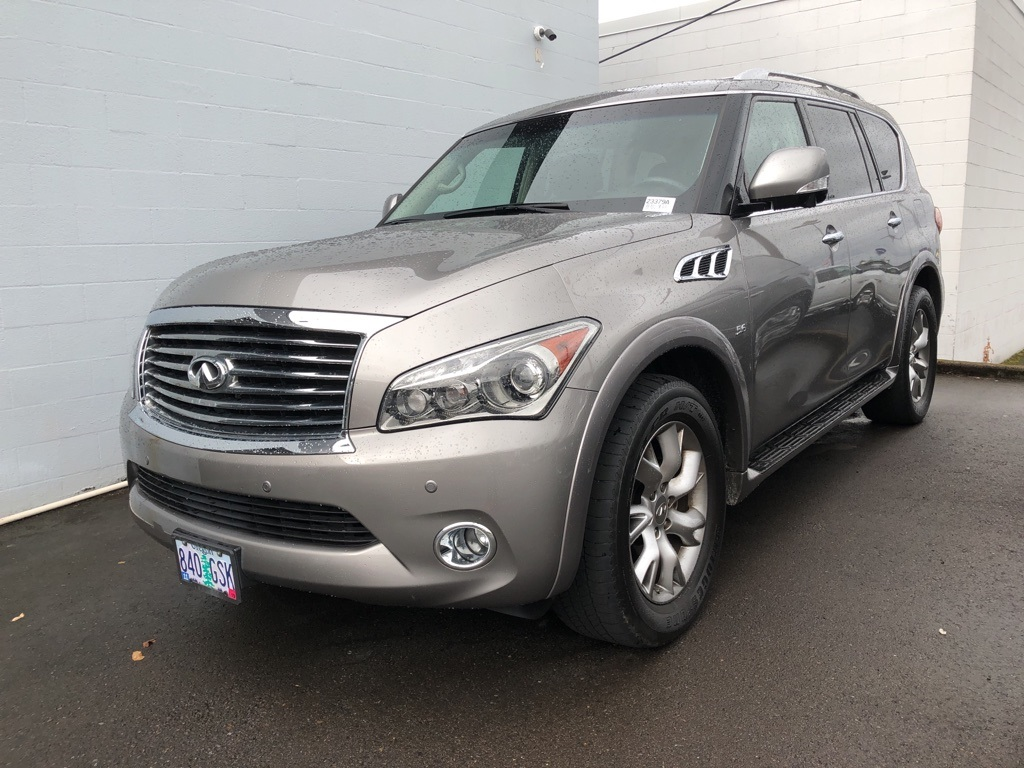 Pre-Owned 2014 INFINITI QX80 4WD, Theatre Pkg, Navigation, Sunroof