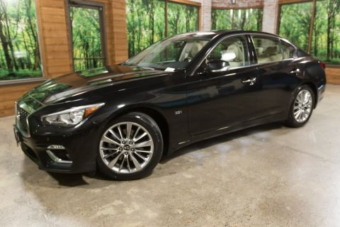 Certified Pre-Owned 2018 INFINITI Q50 3.0t LUXE AWD, Sensory Pkg, ProAssist Pkg, Essential Pkg