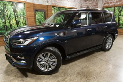 Certified Pre-Owned 2018 INFINITI QX80 AWD, Navigation, V8, Sunroof, Heated Seats