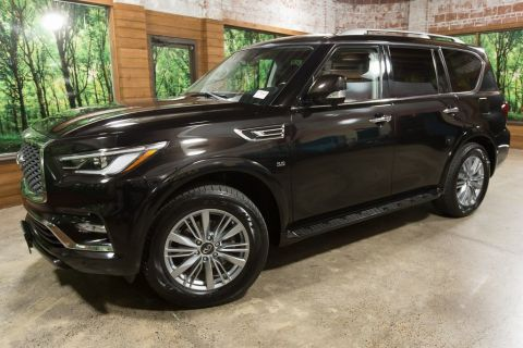 Certified Pre-Owned 2018 INFINITI QX80 AWD, Navigation, 20-in Wheels, Sunroof, Htd Seats